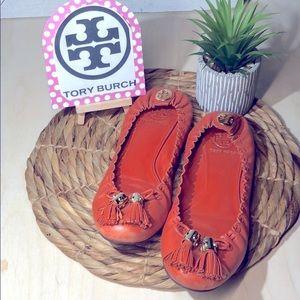 Tory Burch -Orange Ballet Shoe with Tassel - Sz 7M